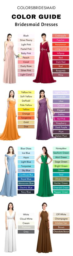 Bridesmaid dresses. Pick a best suited bridesmaid dress for your wedding ceremony. You must take into account the dresses that will flatter your bridesmaids, simultaneously, match your wedding ceremony theme.