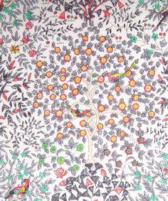 Garden landscape Liberty art fabric