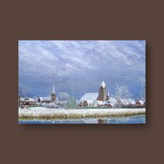 Bedum in de sneeuw - sold - Tobias Gerber Arts Most Famous Paintings, Startup, Winter Landscape, Tobias, Still Life, Animal Pictures, Fine Art, Canvas, Artwork