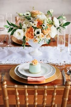 Peach and Emerald Wedding Ideas