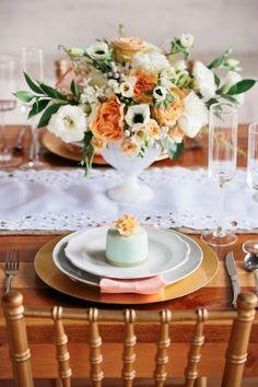 Peach and Emerald Wedding Ideas