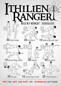 Ithilien Ranger Workout - because being fit as Aragorn is pretty rockin'