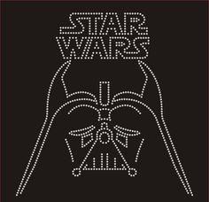 Star Wars Darth Vader Rhinestone Design Motif by BlingnPrintStreet
