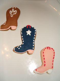 Cowgirl boots sugar cookies