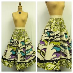 1950s Mexican Horse Skirt 50s