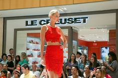 Stunning red dress showcased at Runway Revue 2015! Formal Attire | Fall Fashion | Galleria Dallas