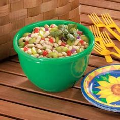 Cannellini Bean Salad Recipe -Here's a perfect side dish for a backyard picnic or barbecue. Celery and red pepper accent this bean salad that's dressed with a mild oil and vinegar dressing. Dorothy Majewski of Vienna, Virginia shares the recipe.