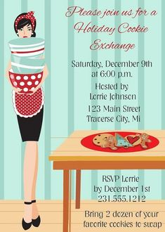 Personalized Christmas Party Invitations from Announce It! Invite your family and friends to your Holiday gathering. Cookie Exchange Party, Christmas Cookie Exchange, Christmas Candy, Merry Christmas, Christmas Party Invitations, Cookie Swap, Candy Party, Holiday Activities, Holiday Cookies