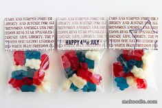 Fourth of July Printable Bag Toppers
