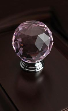 1.37 inches Diameter Sparkle  Pink Glass Crystal by Dreamchinese, $6.50