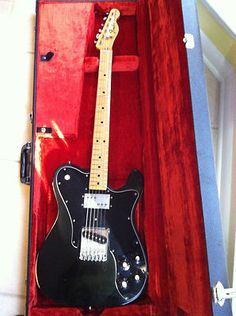 1975 Fender Telecaster Custom w New Frets! Fender Telecaster Black, Telecaster Custom, Telecaster Guitar, Fender Guitars, Guitar Room, Music Guitar, Basic Guitar Lessons, Famous Guitars, Vintage Guitars