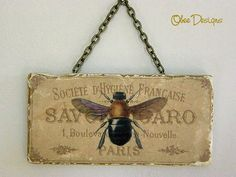 Vintage French Soap tile sign