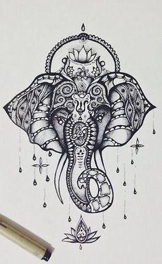 Resultado de imagem para ganesha tatuagem