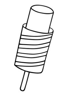coloring page popsicle img - Printable Popsicle Coloring Pages