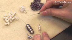 Artbeads Mini Tutorial - Flat Spiral Rope Seed Bead Technique with Cynth...