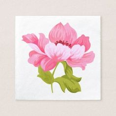 Floral Pink Peony Flower Wedding Party Napkin - wedding shower gifts party ideas diy cyo personalize