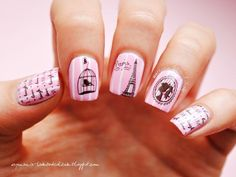 Having short nails is extremely practical. The problem is so many nail art and manicure designs that you'll find online Nail Art Paris, Paris Nails, Nail Art Designs, White Nail Designs, White Nail Art, White Nails, Eiffel Tower Nails, Fun Nails, Pretty Nails