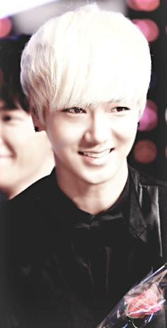 Your laugh & white hair
