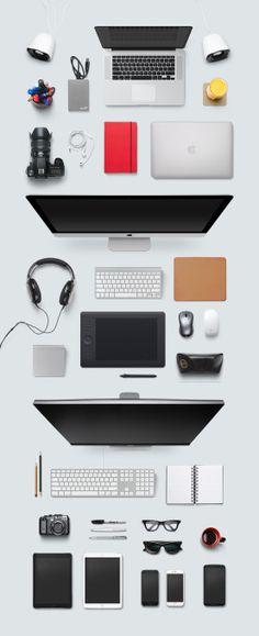 Designer desk essentials.
