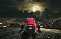 IS THE MOON RISING OR SETTING ON THE ELIO?