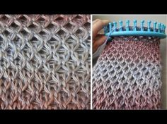 Diamond Stitch : Zomerse sjaal in Diamant steek (english notes) - YouTube