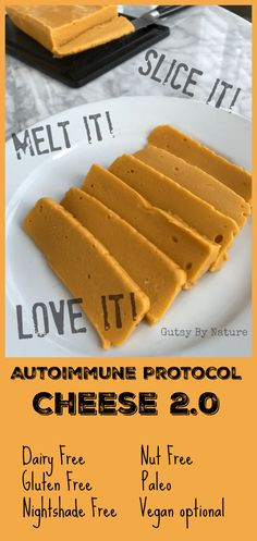 AIP Cheese (replace gelatin with 3/4 tsp agar agar powder to make vegan)