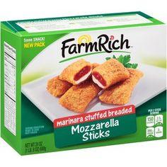Farm Rich Marinara Stuffed Breaded Mozzarella Sticks, 24 oz