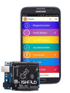 1Sheeld - Arduino shield that turns your android phone into a sensor shield for your arduino via bluetooth connection.