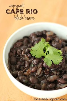 There is a delicious Tex-Mex restaurant here in Utah (and I think in some Western states) that has the most amazing black beans, so when I came across a copycat version of the recipe I knew I had t…