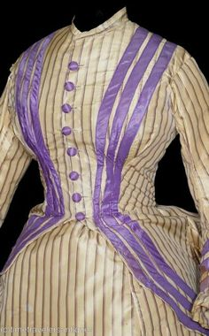 All The Pretty Dresses: Lavender Seaside (? Victorian Gown, Victorian Fashion, Vintage Fashion, 1870s Fashion, Historical Clothing, Historical Dress, Bustle Dress, 19th Century Fashion, Period Outfit