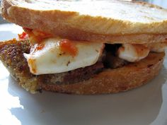 Off The Menu: Eggplant Parmesan Sandwich With Fresh Mozzarella & Tomato
