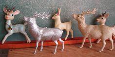 Vintage - Group of Reindeer/Deer  - Antique/Christmas