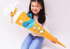 Schultüten - Schultüte Wal mit Flaschenpost - ein Designerstück von josefines-kinder bei DaWanda