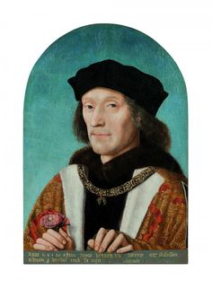 """Artiste des Pays-Bas, """"Henri VII"""", 1505, 42,5 x 30,5 cm, huile sur bois"""