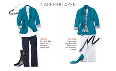 Blazer - wear now, wear later Business Casual Outfits, Trendy Outfits, Fashion Face, Womens Fashion, White Capris, Professional Dresses, My Outfit, Outfit Ideas, Work Wardrobe