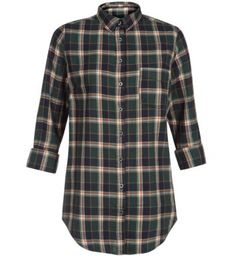 Dark Green Check Shirt - New Look