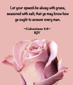 Colossians 4:6 KJV
