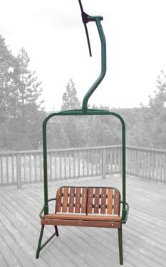 restored 1960s creast butte resort ski lift chair. powder coated