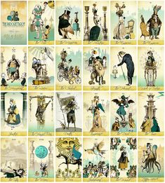 The Isidore Tarot - Sea and Sand Spring Edition - Limited Time Sale - The Isidore Tarot with teal themed colors Sand Springs, Sun Sign, Tarot Decks, Sea, Baseball Cards, Colors, Colour, Ocean, Tarot Cards