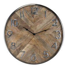 Ceas de perete rotund Richmond Jayden D 60cm Richmond Interiors, Retro, Vintage, Home Decor, Products, Wood Tv Stands, Clock, Stainless Steel