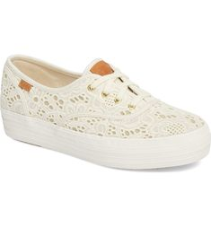 691d1cc7b57 Keds® Triple Embroidered Crochet Platform Sneaker (Women)