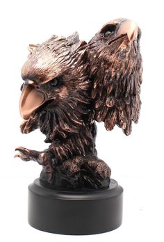 Patinated Copper Plated Two Eagles Bronze Figurine | Sculpture | Statue >> You can get additional details, click the image : Home Decor Sculptures