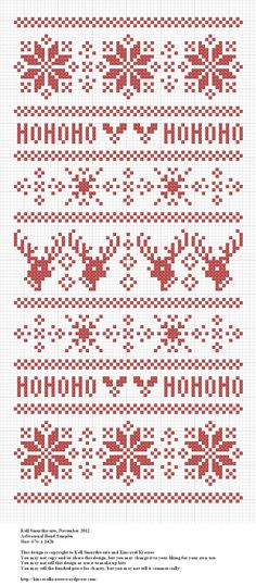 Seasonal Band Sampler - especially like the reindeer. Lots of fun charts on this blog.