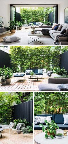 Kleine tuin inspiratie Eva Small garden inspiration Eva Once you are planning of what types of patio handles you can. Outdoor Spaces, Outdoor Living, Outdoor Decor, Small Gardens, Outdoor Gardens, Indoor Gardening, Gardening Tips, Small Garden Inspiration, Gazebos