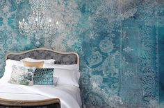 "Love this wall mural: ""Lace Grunge"". Bohemian Mural Collections - Back to the Wall"