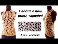 Crochet Blouse, Crochet Top, Photo Pattern, Crochet Videos, Crochet Crafts, Youtube, Sweaters For Women, Make It Yourself, Knitting