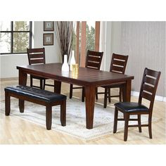 Coaster Furniture Imperial 6 Piece Dining Table Set