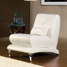 Furniture Of America Artem White Chair SM6072-CH For $179