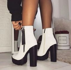 56 Ideas Boots Femme Talon Aiguille For 2019 - FootWear Dream Shoes, Crazy Shoes, Me Too Shoes, Cute Shoes Heels, Aesthetic Shoes, Hype Shoes, Beautiful Shoes, Shoe Boots, Platform Ankle Boots