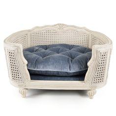 Lord Lou Arthur Silver Grey Velvet - Fletcher Of London - Luxury Pet Products Pet Furniture, Bedroom Furniture, Fancy Bed, Dog Bedroom, Cute Dog Toys, Cat Light, Dog Houses, Pet Beds, Love Seat